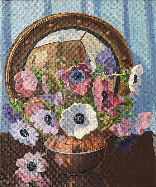 HERBERT BADHAM (1899-1961) Still Life with Mirror Reflection 1954