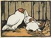 HELEN OGILVIE (1902-1993) Chooks in the Straw c1932, Helen Ogilvie, Click for value