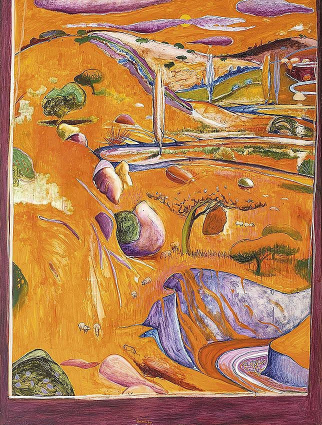 BRETT WHITELEY (1939-1992)  The Paddock - Late Afternoon