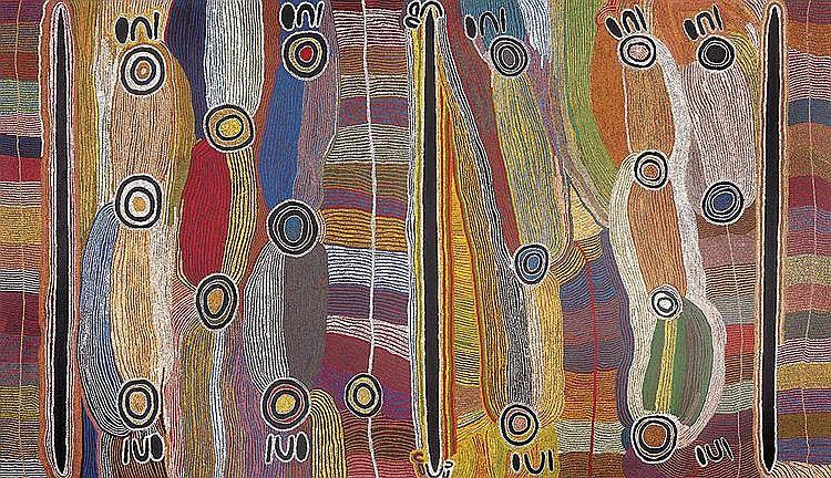 MAGGIE WATSON NAPANGARDI (1921-2004) Warlpiri language group Digging Stick Dreaming
