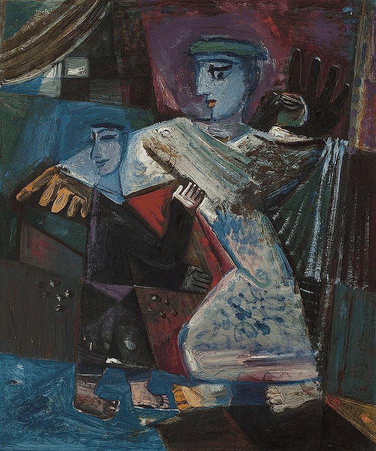 MICHAEL KMIT (1910-1981) Untitled 1955 oil on board