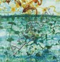 JOHN OLSEN born 1928 Sunbirds and Lily Pond watercolour and pastel on paper