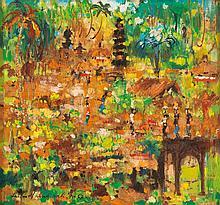 ANTON HUANG (1935-1985, Indonesian) Untitled (Balinese Scene) 1970