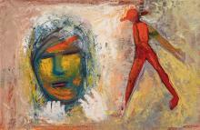 CHARLES BLACKMAN (1928-2018), Figure and Face