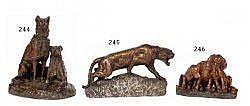 Émile Désiré LIENARD (1842-?) - Les chiens