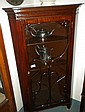 Mahogany display corner cabinet