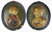 early 19th c King George III & Queen Charlotte