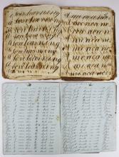 early 19th c Calvin Hubbard writing practice book