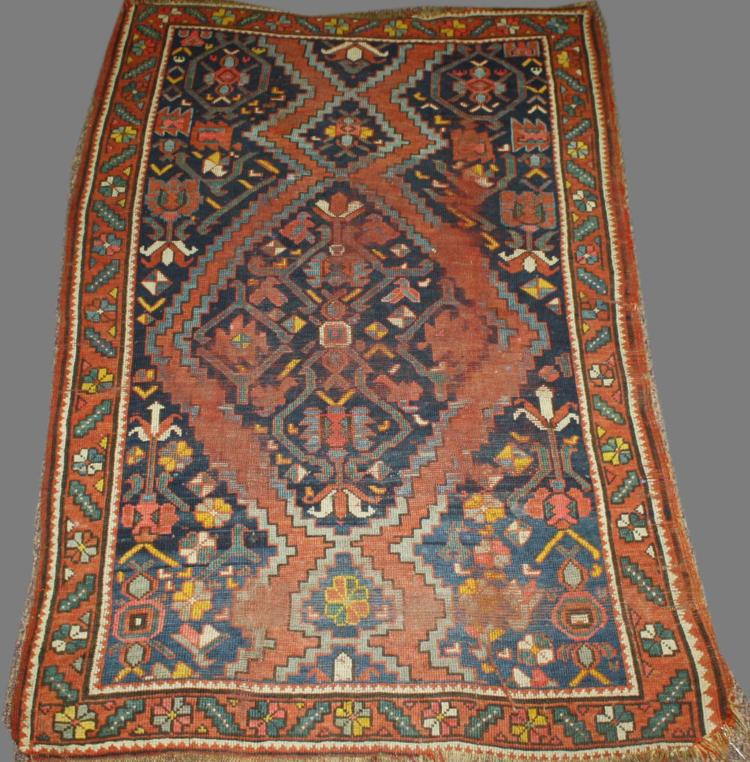 Persian Tribal Rugs: 19th C North Persian Tribal Area Rug