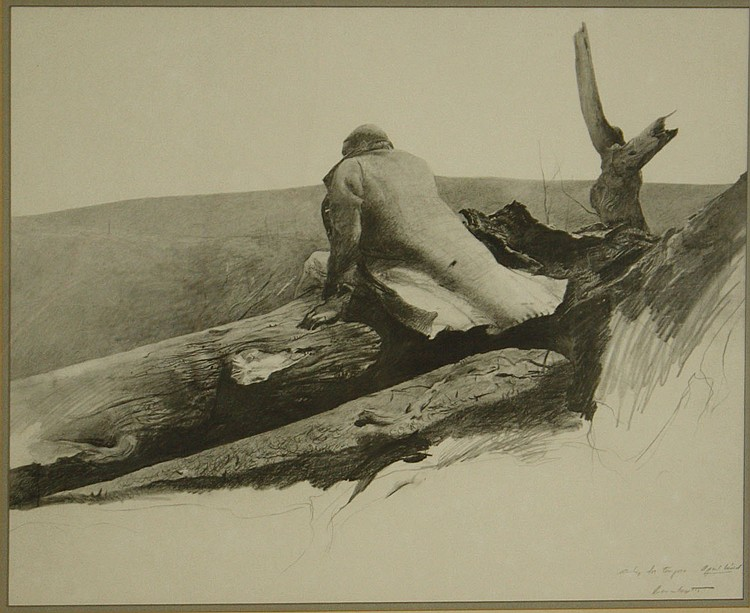 Andrew Wyeth(Am 1917-2009) April Wind lithograph