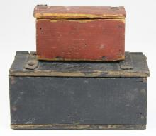 two small 19th c boxes with lids