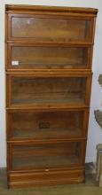 Globe Wernicke 5 section oak barrister bookcase