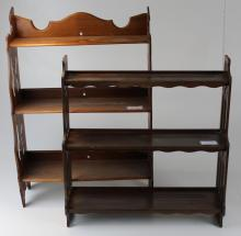two what-not shelves