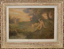 Louis Michel Eilshemius (FR 1864-1941) Three Nudes