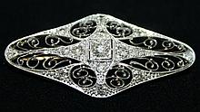 Platinum and multidiamond reticulated Edwardian
