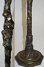 Ornate Art Nouveau floor lamp w/ beauties