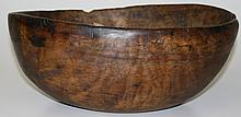 18th c. North American burl bowl, old surface, old