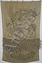 Ca 1980 Peter & Ritzi Jacobi signed textile fiber art wall sculpture   76