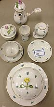 8 Pieces Herend rose decorated breakfast set