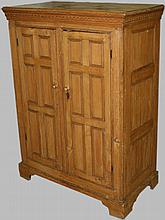 Early 19th c. Quebec pine reeded paneled two door