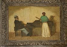 Bernard Lintott (Am 1875-1950) o/c portrait of