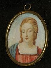 19th c. miniature portrait on ivory