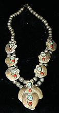 Navajo turquoise and silver necklace