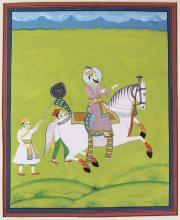 Indo-Persian illuminated manuscript watercolor