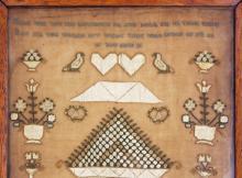 1826 silk sampler with verse