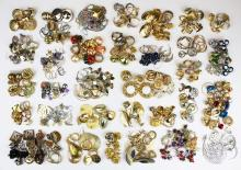 large lot of costume jewelry earrings