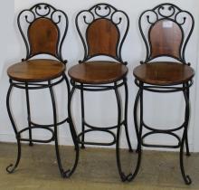 Three contemporary French style stools