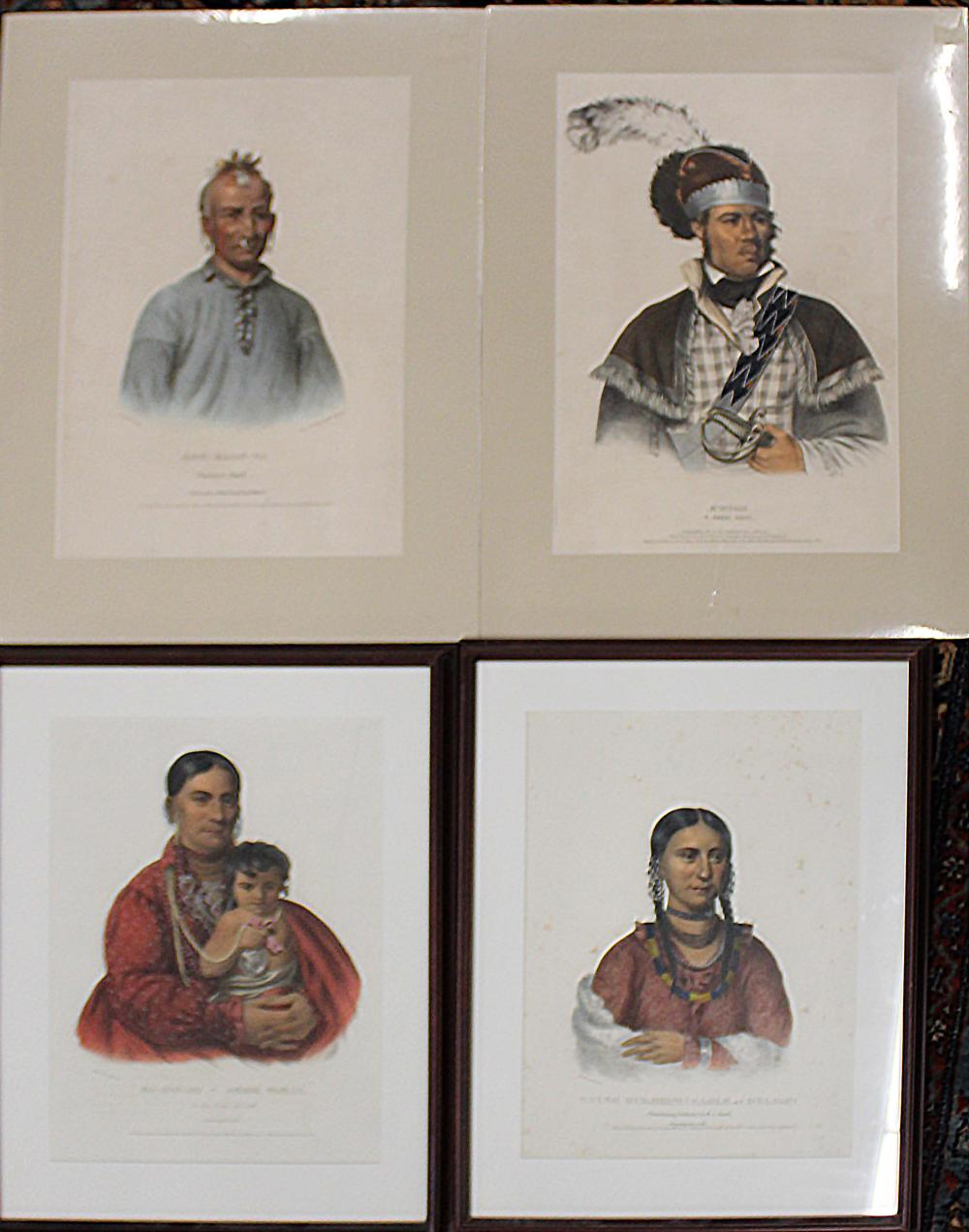 McKenny and Hall hand colored lithographs