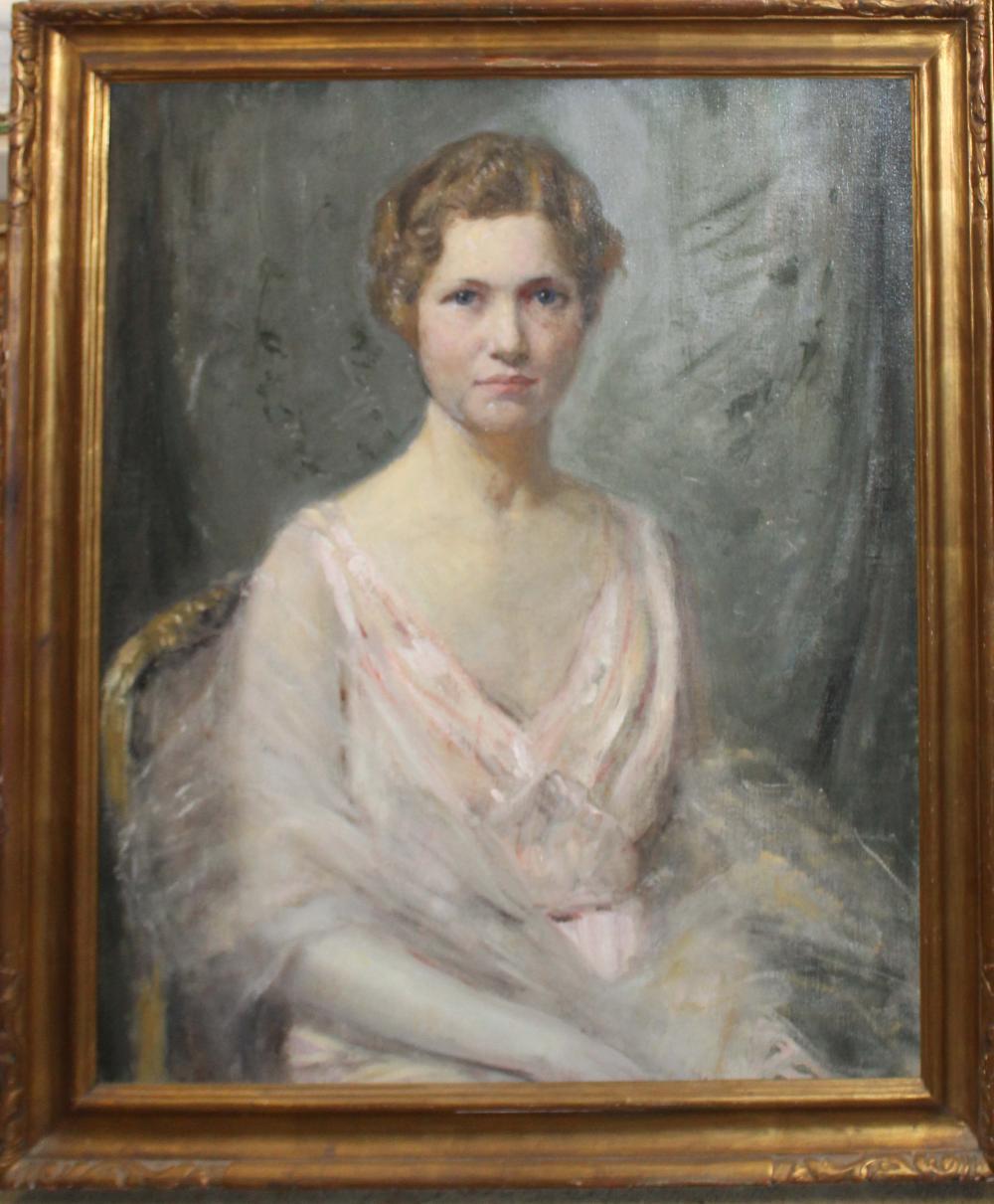 Joseph Henry Boston (Am 1860-1954) Portrait of a young lady