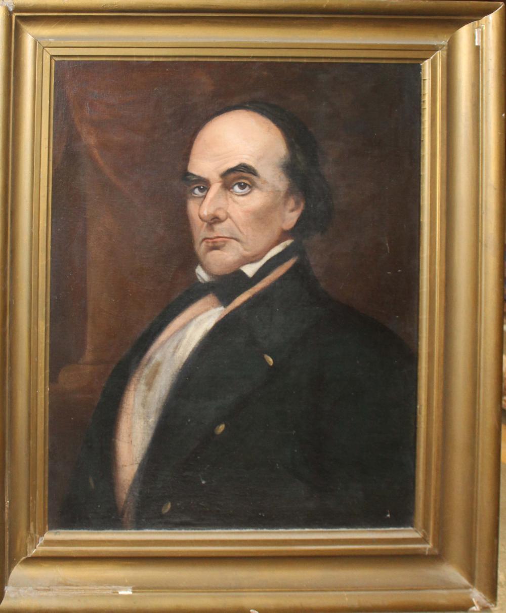 19th c American School Portrait of Daniel Webster