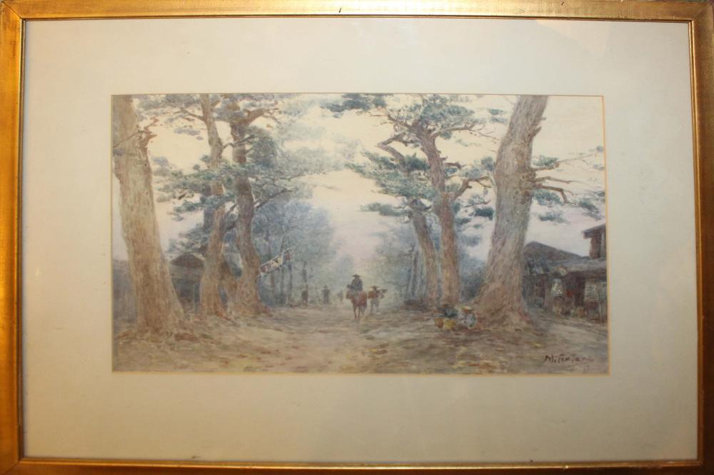 Kunishiro Mitsutani (JP 1874-1936) Road with peasants