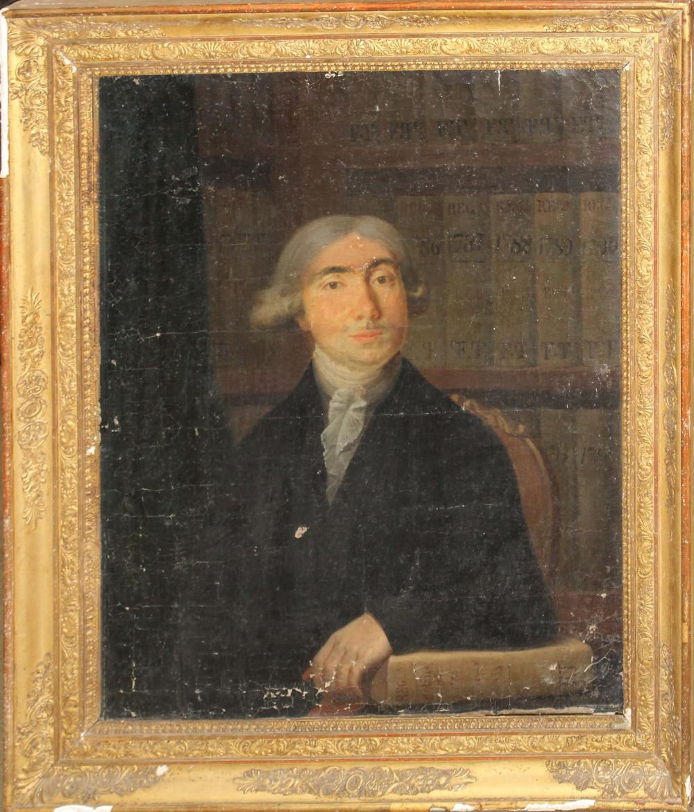 18th c French School portrait of a Notaire