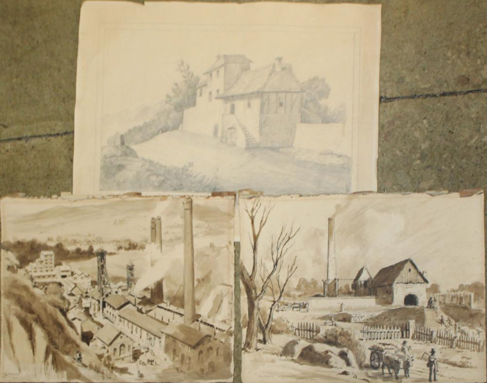 Three early 20th c French Lanscapes signed Taubert