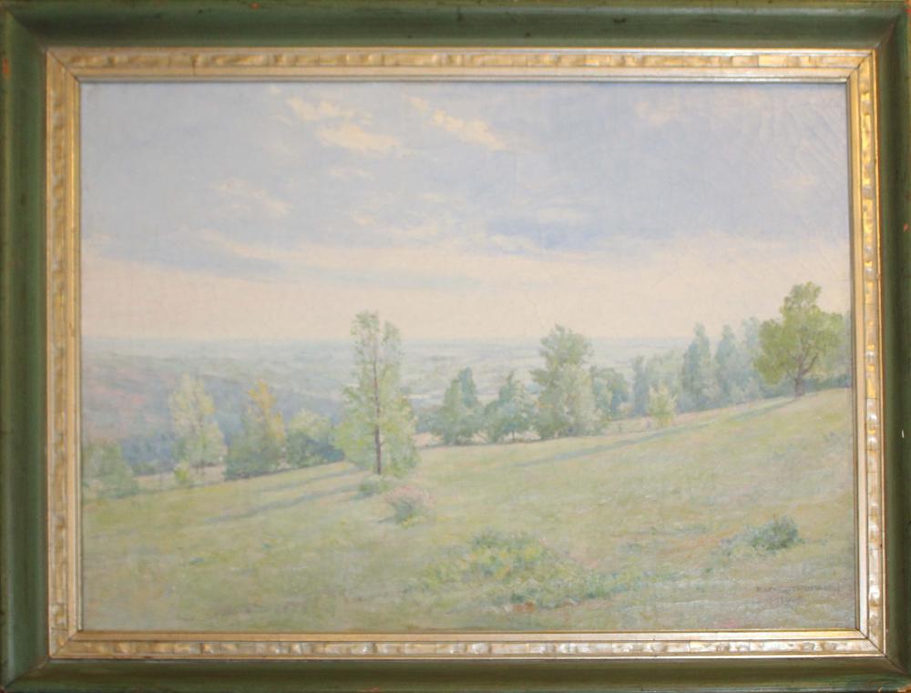 Wilfred Thompson (EN 19th c) Summer landscape