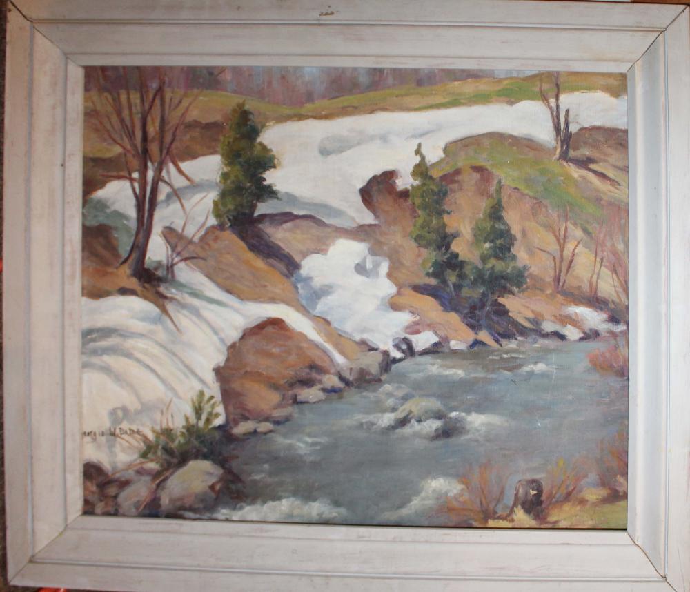 Georgia W Balch (VT 1888-1981) Spring Runoff
