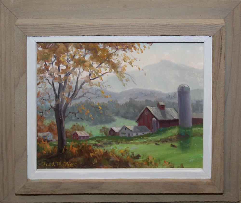 Fred M. Hines (AM 20th c )New England landscape