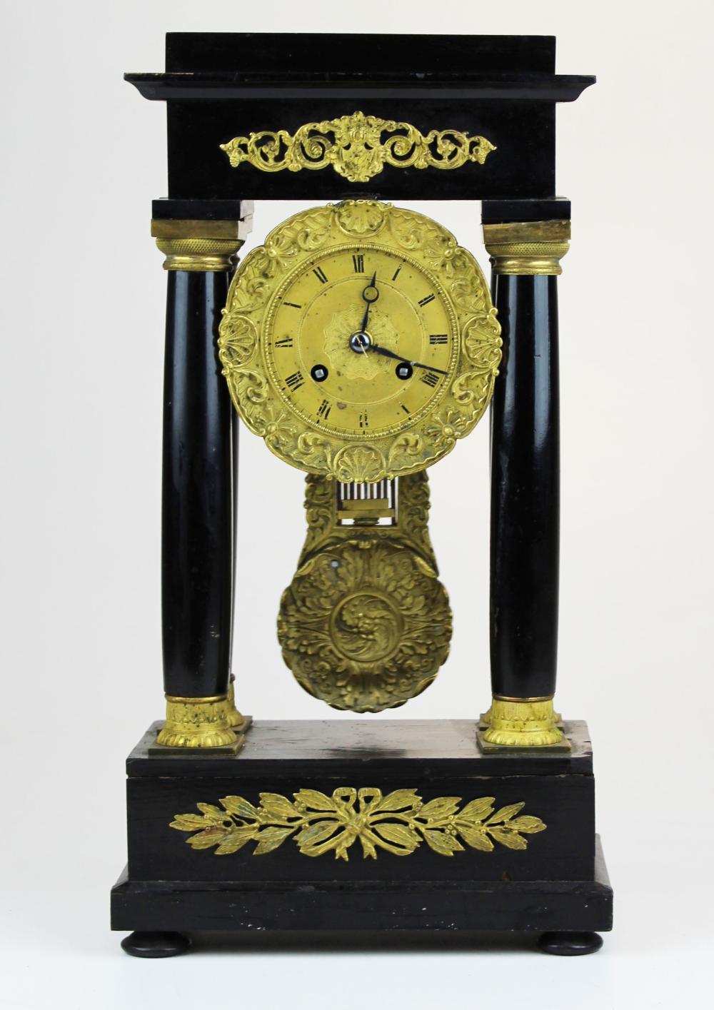 late 19th c French portico mantel clock