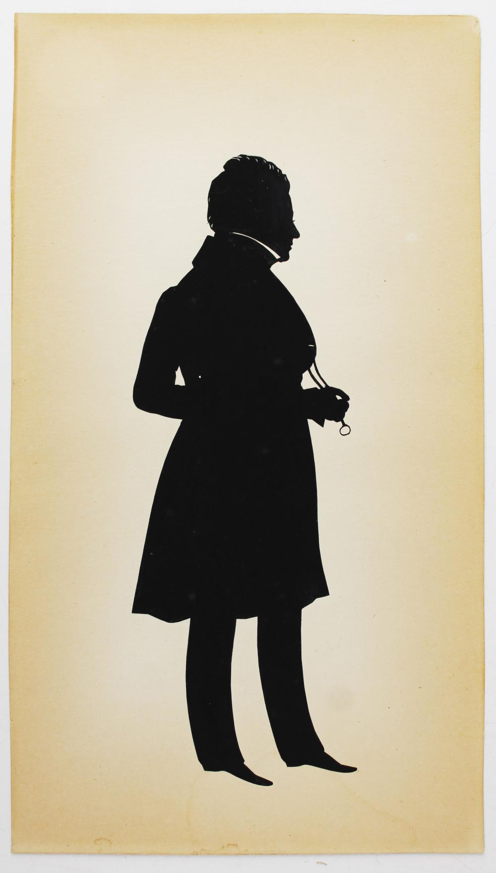 1836 Edouart silhouette of Mr Chillpots of Gloster