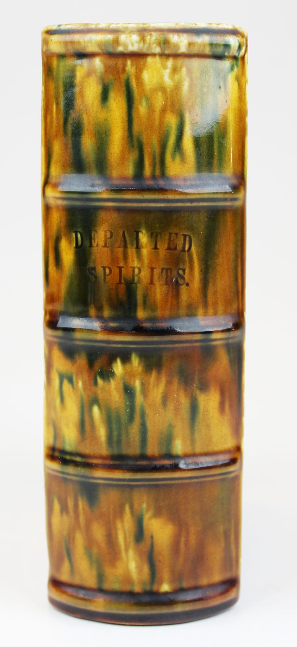 Bennington Departed Spirits flint enamel book bottle