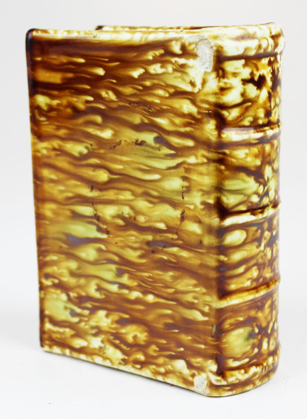 Bennington flint enamel glaze book bottle