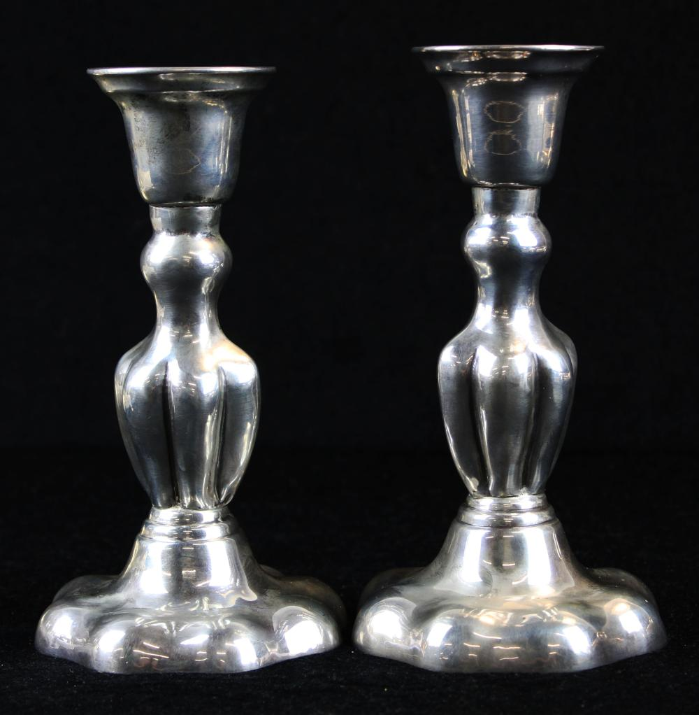 pair of 1930's sterling silver candlesticks