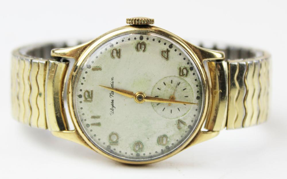 Ulysse Nardin men's gold wrist watch