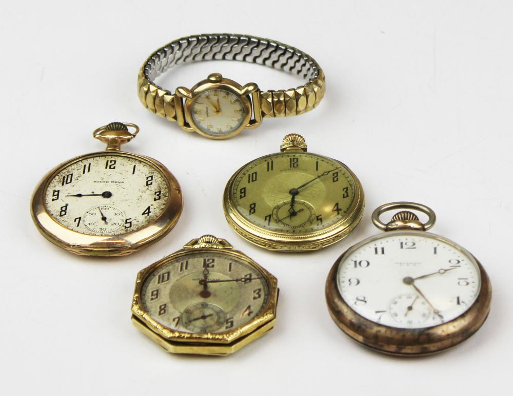 A group of 5 vintage watches