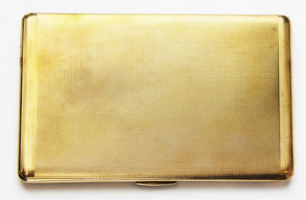 Rose gold cigarette case