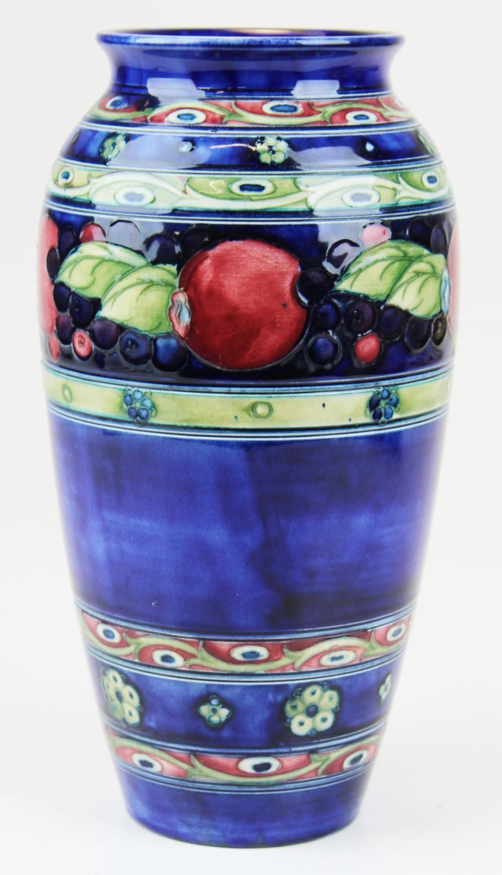 Moorcroft Pomegranate art pottery vase