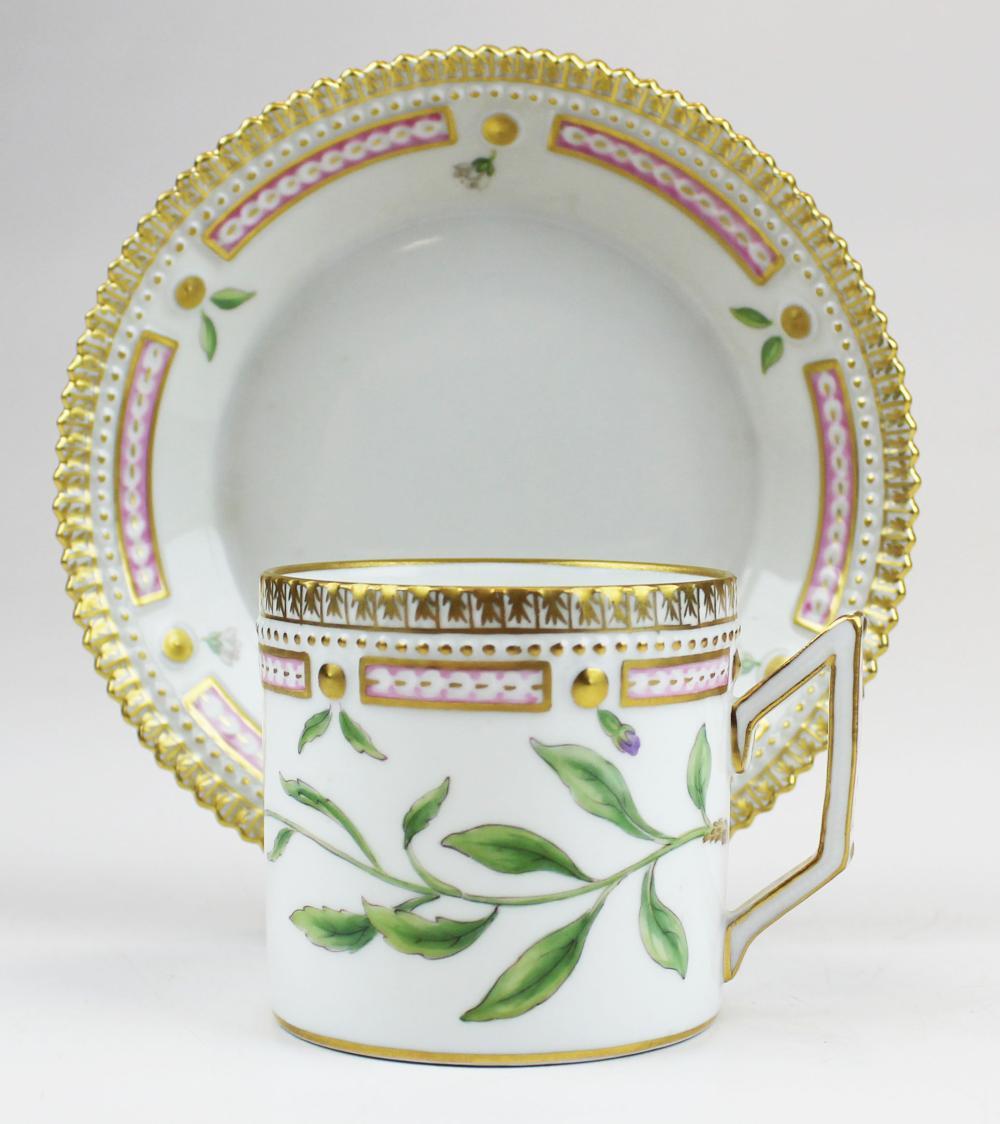 Royal Copenhagen Flora Danica cup and saucer